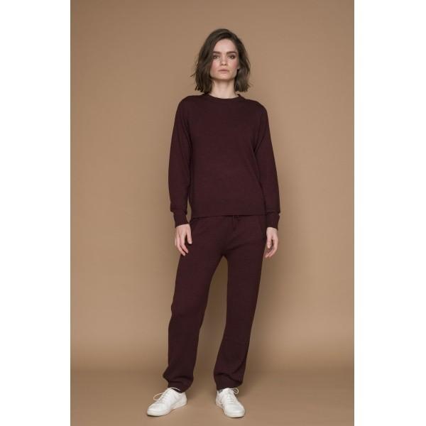 Basic Apparel: Modell 'Vera Sweater - Bordeaux Melange'
