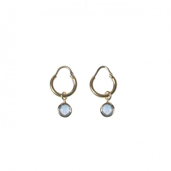 epic: Modell 'Stone Hoops S Labradorite - Gold'