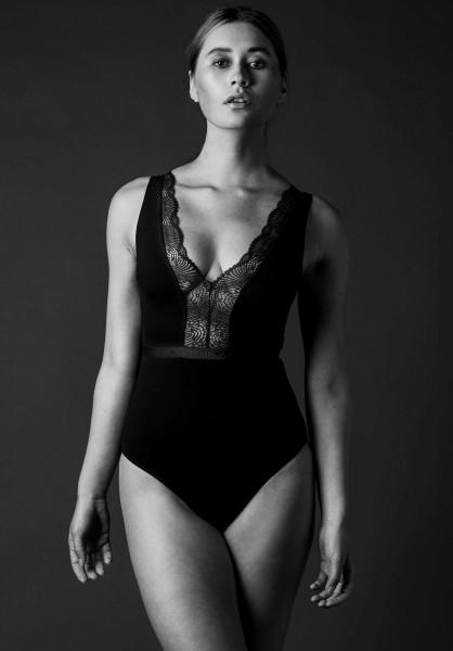 Lovjoi: Modell 'Garden Tiger Bodysuit - Black'