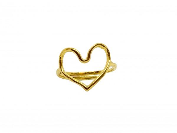 Ibu Jewels: Modell 'Ring Heart - Gold'