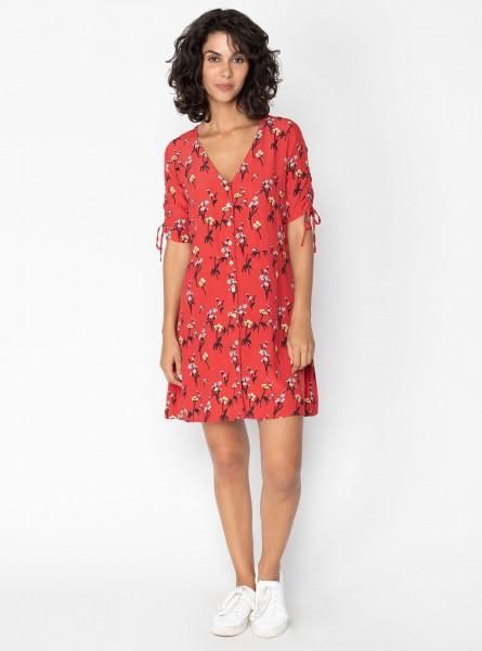Buddha Wear: Modell 'Deja Mini Dress - Ruby Flowers'