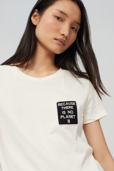 Ecoalf: Modell 'Belen Pach T-Shirt Woman - White'