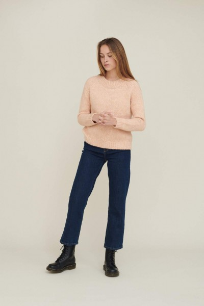 Basic Apparel: Modell 'Aliki Sweater - Dusty Coral melange'