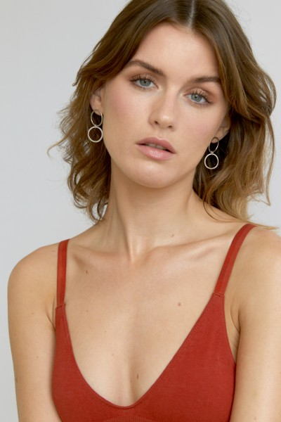 Wild Fawn: Modell 'Double Circle Studs 2.0 - Silver'
