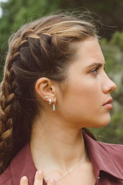 Wildthings: Modell 'Aqua bay drop earring silver'