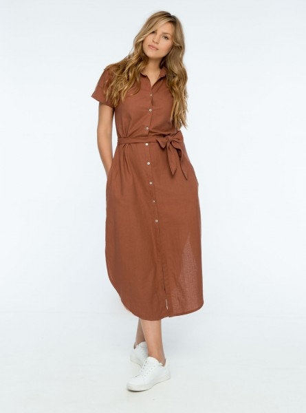 Buddha Wear: Modell 'Fiona Midi Dress - Rose Wood'