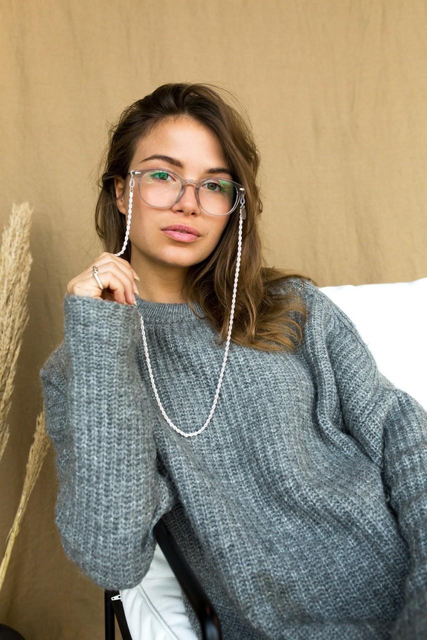 Coco Bonito: Modell 'Snake Chain Sunnycord - Silver'